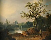 Landscape with Figures on a Path, shayer