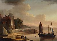 Mouth of the Old Canal , 1842, shayer