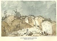 Bohdan`s ruins in Subotiv, 1845, shevchenko