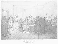Cossack`s feast, 1838, shevchenko