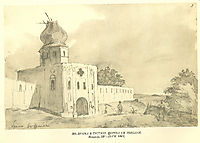 A gate in Gustynia. Church of St. Nicholas, 1845, shevchenko