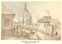 In Pereiaslav. The Church of the Intercession., 1845, shevchenko