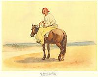 Kazakh on a horseback, 1849, shevchenko