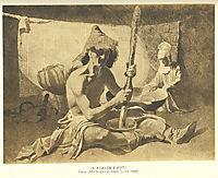 Kazakhs in yurta, 1849, shevchenko