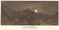 Moonlit night in mountains, 1857, shevchenko
