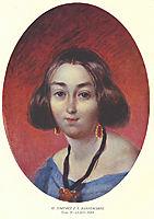Portrain of G. I.  Zakrevska, 1843, shevchenko