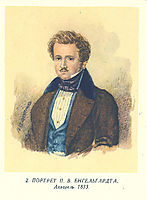 Portrait of P. V. Engelgart, 1833, shevchenko
