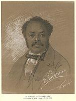 Portrait of Ira Aldridge, 1858, shevchenko