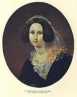 Portrait of E. V. Keykuatova, 1847, shevchenko