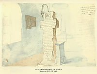Stone cross of St. Boris, 1845, shevchenko