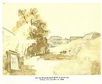 Vasylkiv fort in Kyiv, 1846, shevchenko