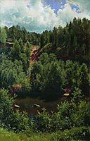 After the rain. Etude of the forest, 1881, shishkin