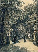 Alley of the Summer Garden in St. Petersburg, 1869, shishkin