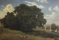At the church fence. Balaam, 1867, shishkin