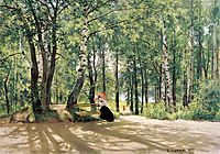 At the Summer Cottage, 1894, shishkin