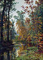 Autumn landscape. Park in Pavlovsk, 1888, shishkin