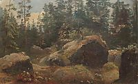 Boulders in forest, shishkin