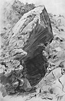 Cave in caves & volcanoes, 1879, shishkin