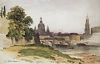 Dresden. Bridge of August, 1862, shishkin