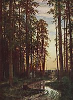 Evening in a pine forest, 1875, shishkin