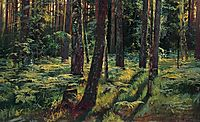Ferns in the forest. Siverskaya, 1883, shishkin