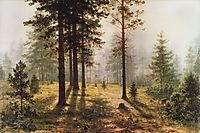 Fog in the forest, shishkin