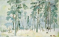 Forest into the frost, shishkin