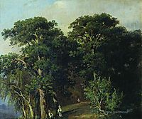 Forest Landscape with Figures, 1880, shishkin