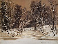 Forest in winter, 1884, shishkin