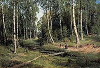 In The Birch Tree Forest , 1883, shishkin