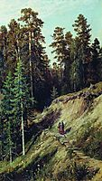 In the forest. From the forest with mushrooms, 1883, shishkin