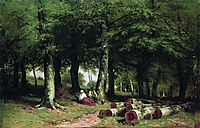 In the Grove, 1869, shishkin