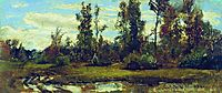 Lake in the forest, shishkin