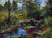 Landscape with bridge, shishkin