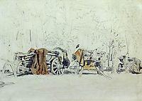 Landscape with carts, shishkin