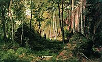 Landscape with a Hunter. Valaam Island, 1867, shishkin