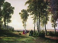 Landscape with walking people, 1869, shishkin