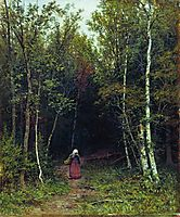 Landscape with a Woman, 1872, shishkin