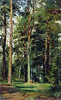 Meadow with pine trees, shishkin