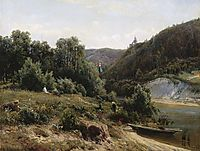 Near the monastery, 1870, shishkin
