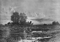 Overgrown pond, 1884, shishkin