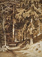 Path in the forest, 1891, shishkin
