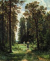 The Path through the Woods, 1880 (oil on canvas), 1880, shishkin