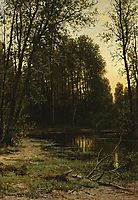 River backwater in the forest, 1890, shishkin