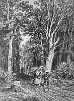 The road in forest, 1869, shishkin