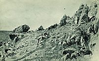 Rocks on the beach. Gursuf, 1879, shishkin