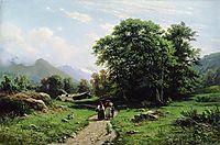 Swiss landscape, 1866, shishkin