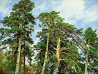 The tops of the pines, shishkin