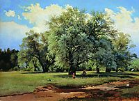 Willows Lit Up by the Sun, shishkin