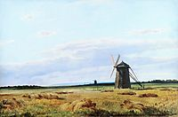 Windmill in the field, 1861, shishkin